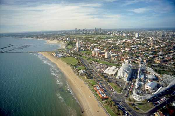 St Kilda Aerial View with Elite Buyer Agents